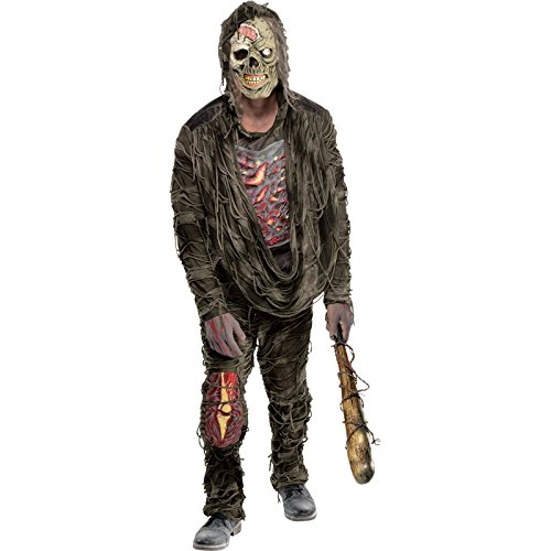 Amscan 847748 Standard Adult Creepy Zombie Costume, Black, One Size