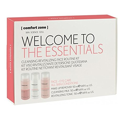 Comfort Zone - Welcome to the Essentials Kit - A Simple Skincare Regime for All Skin Types - Includes Makeup Remover, Cleansing Milk, and Revitalizing (Maximum Healthy Skin Kit)