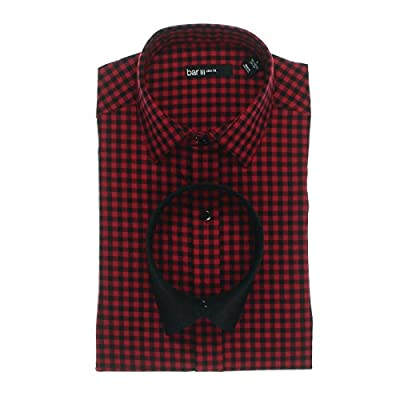 Bar III Mens Plaid Slim Fit Dress Shirt