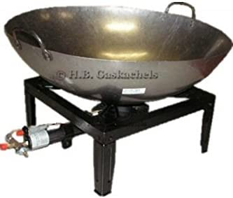 Conjunto hornillo profesional con sartén Wok 51 cm: Amazon.es ...