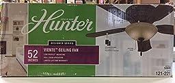 Viente 52 in. Indoor Flushmount Roman Bronze Ceiling Fan