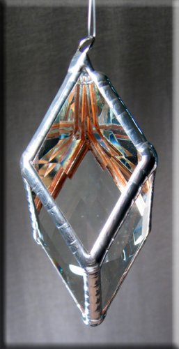Rainbow Water Prism - Small Diamond Rainbow Maker - Glass Crystal Suncatcher