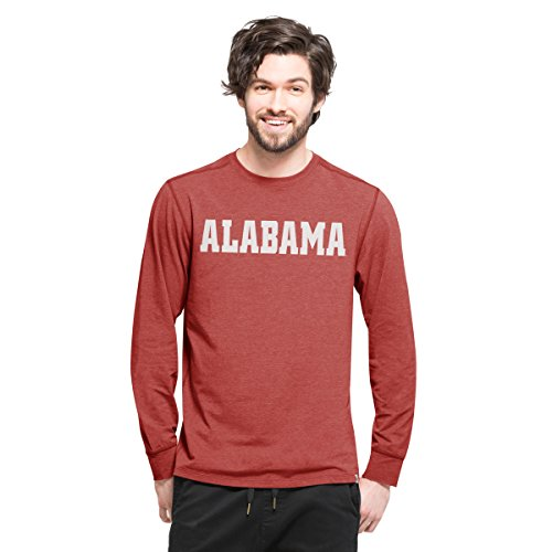 NCAA Alabama Crimson Tide Men's '47 Cadence Long Sleeve Tee, X-Large, Shift Cardinal