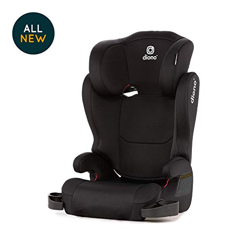 Diono Cambria 2 High-Back Children's Booster Seat - 6 Position Head-Support, 40-120 Pounds, Black