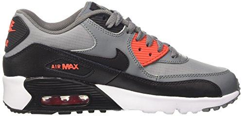 Nike Air Max 90 Mesh Gs, Sandalias con Plataforma para Niños Multicolor (Cool Grey/black-max Orange-white)