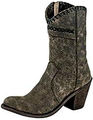 Old West Boots Womens Crisscross Stitch Boot