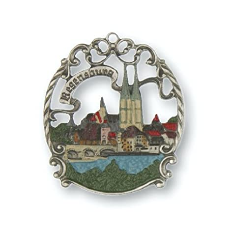 Amazon.com: Regensburg Alemania Alemán peltre Ornament ...