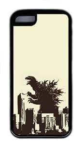 Apple iPhone 5C Case Cover - Godzilla TPU Case Cover For iPhone 5C - Black