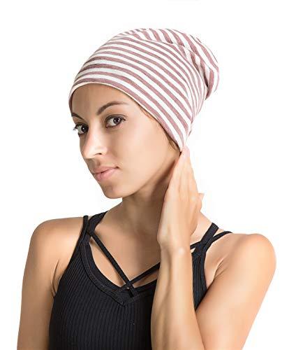 777302b81d9 Slap Night Cap Sleep Hat - Grey Balck Women Organic Bamboo Cotton Satin  Silk Satun Satin