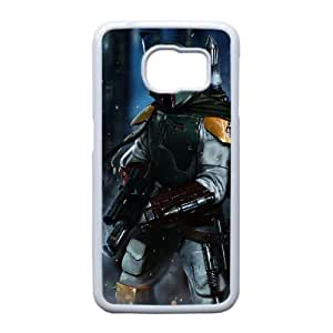 caso Edge Star Wars Boba Fett Arte O3G42Z8KX funda Samsung Galaxy S6 funda M23A4L blanco