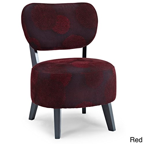Dwell Home Inc Dwell Home Solid Wood/Polyester/Foam Upholstered Floral Accent Chair Red (Upholstered Red Floral Chair)