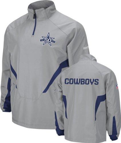 Dallas Cowboys Grey 2010 Sideline 50th Anniversary Hot 1/4 Zip Jacket