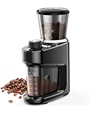Conical Burr Coffee Grinder, Adjustable Burr Mill with 15 Precise Grind Setting for 2-12 Cups, Black