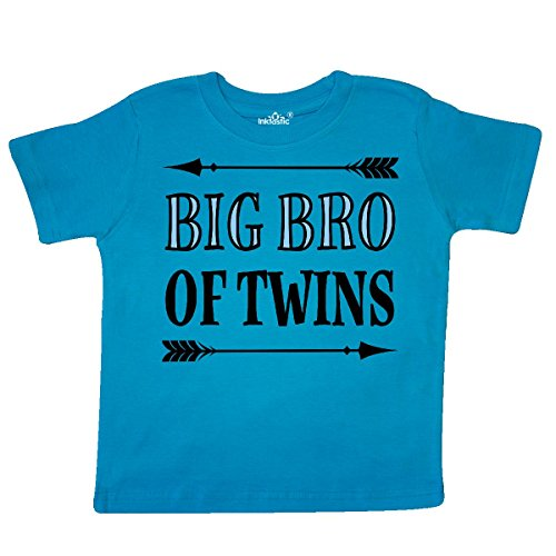 inktastic - Big Bro of Twins Brother Gift Toddler T-Shirt 2T Turquoise - Twins Brothers