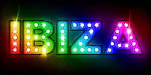 Imagekind Wall Art Print entitled Ibiza In Lights Michael Tompsett   24 x 12 ()