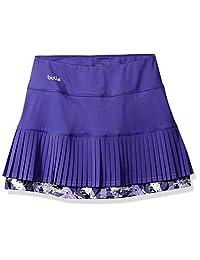 Bollé Purple Passion Falda de Tenis multicapas con pantalón Corto Integrado, Color Morado pasión