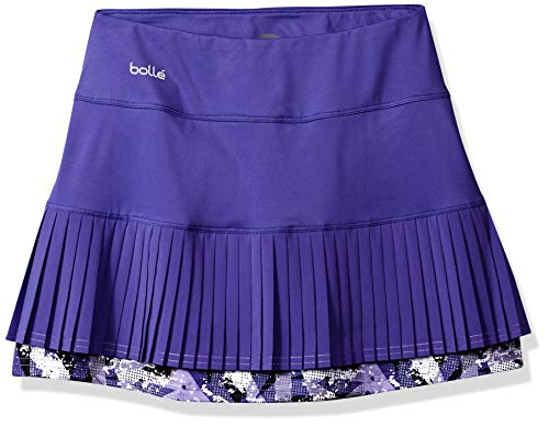 - bollé Purple Passion Multi-Pleat Tennis Skirt with Built in Short, Purple Passion Violet, Large