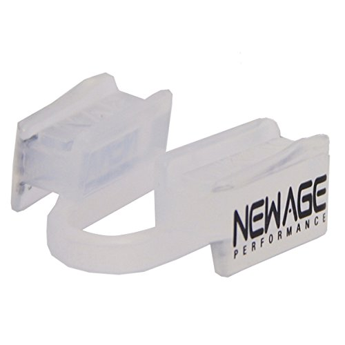 New Age Performance 6DS Sports and Fitness Weight-Lifting Mouthpiece - Lower Jaw - No-Contact - Includes Case - Clear