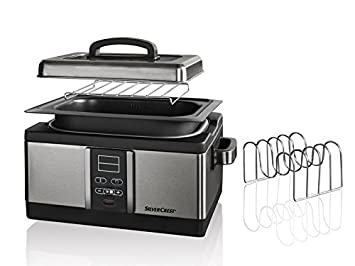 GOURMETmaxx Sous-Vide Garer 520W Edelstahl//schwarz Vakuum Niedertemperatur