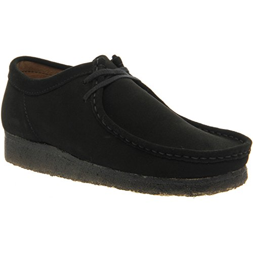 CLARKS Originals Mens Black Wallabee Suede Shoes-UK (Clarks Wallabee Oxford)