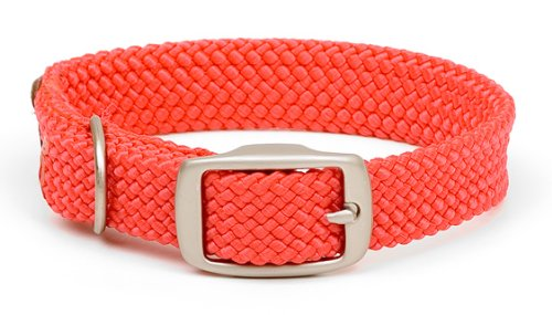 Image of Mendota Products ME31301 Pet Double Braid Dog Collar, 9/16 x 12, Red