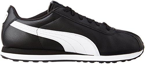 Puma Supergoal - Zapatillas de Deporte de Otra Piel Hombre Negro (Black-white 01)