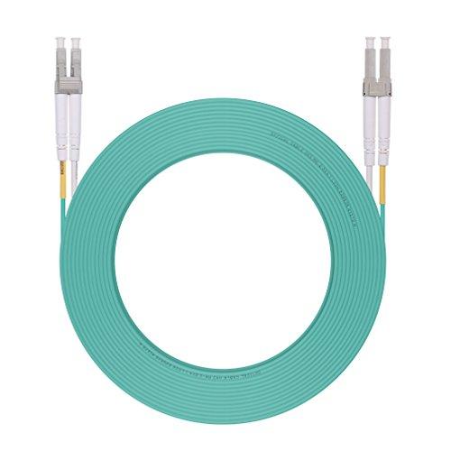 LC to LC Fiber Optic Cable Multimode Duplex OM3 10Gb 50/125um, LSZH, 15-Meter(49ft)