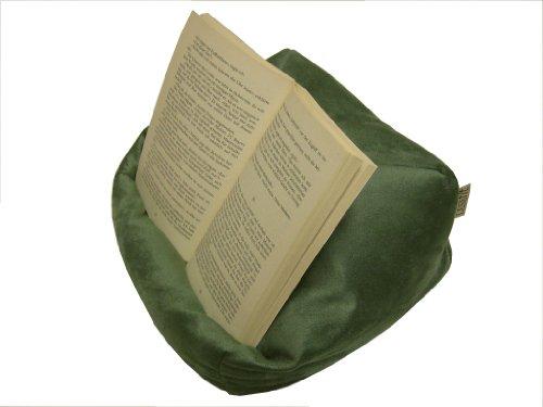 LESEfit soft antirutsch Lesekissen, Tablet Kissen, echter Sitzsack für iPad* Bücher & e-Book-Reader, elastan-frei für Bett & Couch / grün