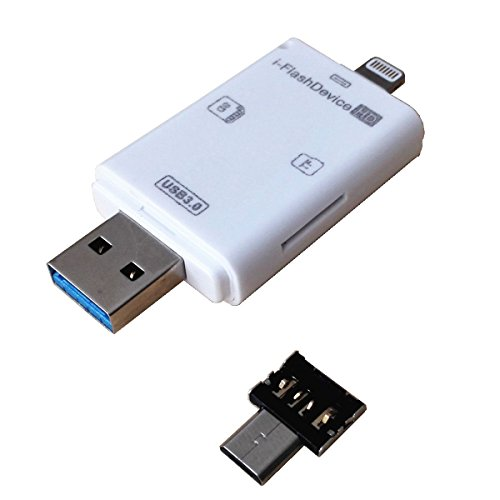 For iOS Mac iPhone 7 6 6s HD i-Flash Drive USB OTG Memory Card Reader Adapter US