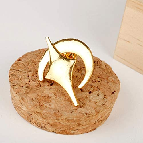 Naegi Makoto Brooch moon star Brooches for Women Japan Anime Accessories Cosplay Alloy Collar pin Algol