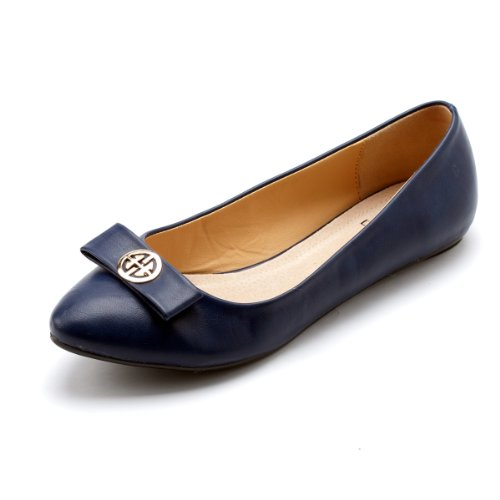 Blue Super Stylish Flats Ballet Shoes Alexis Cute Women Leroy Dark xaS6OF