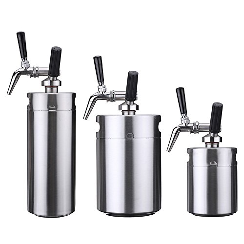 Nitro Cold Brew Coffee Maker,Yingte Mini Stainless Steel Keg Home Brew Coffee Cup System Kit(5L)