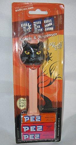 Glow In The Dark Halloween Pez Dispenser, Black Cat