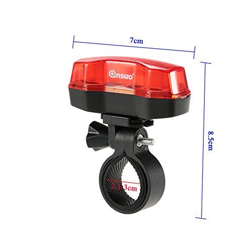 Docooler Vélos Lumière en Plein Air Vélo de Camping à Vélo Faisceau Bicyclette 4 LED Taillight Arrière Lampe sûre