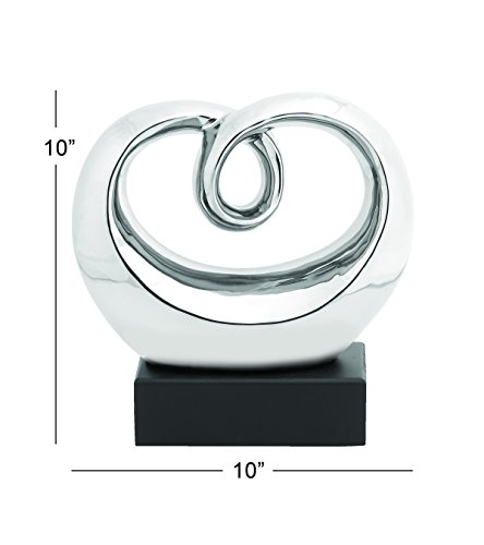 Large Product Image of Deco 79 92850 Perfect Polished Abstract Whirling Sculpture