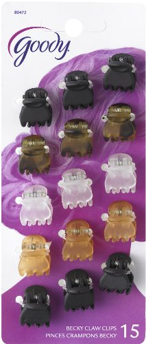 Goody Classics Claw Hair Clip, Mini Crown (Pack of 3)