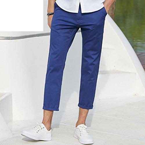 Miki Da NEW fashion men casual pants thin version cotton summer ninth pants men famous Brand pants soft&breathable Khaki 35