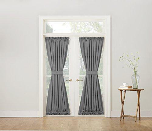 Sun Zero Barrow Energy Efficient Patio Door Curtain Panel, 54