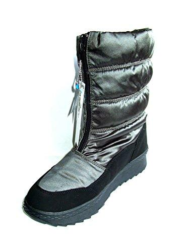 Lico Groenland Damen Stiefel schwarz / grau 710116, Warmfutter, Comfortex
