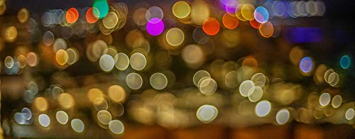 Cancun Light - Canvas Print Mexico Bokeh Colorful Night Lights Cancun Vivid Imagery Stretched Canvas 10 x 14