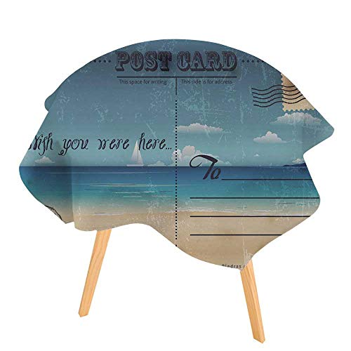 (PINAFORE 100% Polyester Printed Table Vintage Summer Postcard for Home, Restaurants, Cafés 71
