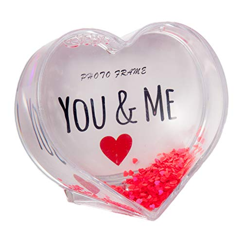 Heart Shaped Water Globe Picture Frame 3.75