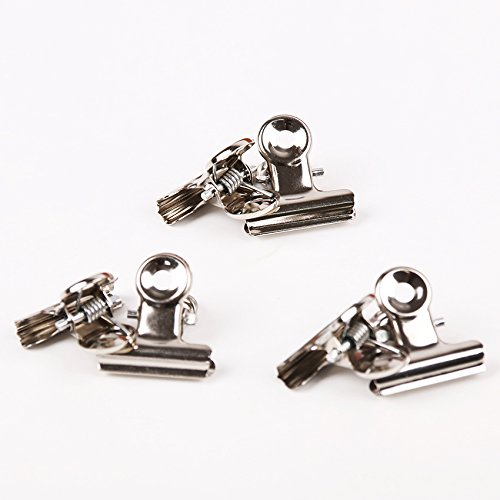 Round Metal Grip Clips Silver Clips Stainless Steel Ticket Clip Stationery Bills Metal Clamp Office Supplies