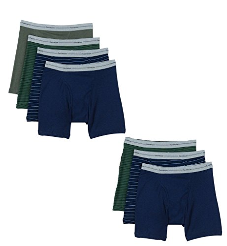 Fruit of the Loom Men's Boxer Brief (Pack of 7), Assorted-Blues, Grays, Reds, Small