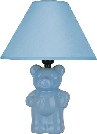 Light Blue ORE International 611BL Ceramic Teddy Bear Lamp
