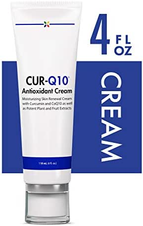 Stop Aging Now - CUR-Q10 Antioxidant Cream - Moisturizing Skin Renewal Cream with Curcumin and CoQ10 as Well as Potent Plant and Fruit Extracts - 118 mL (4 fl. oz.)