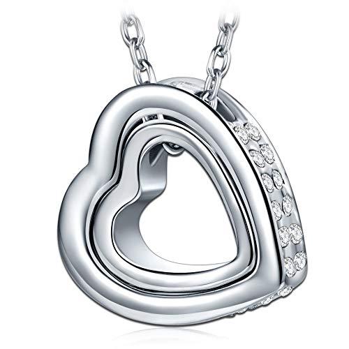 Kami Idea Halskette, Geschenke für Mama, Ich Liebe Dich für Immer, Herzanhänger, Kristall von Swarovski, Geschenk Verpackt
