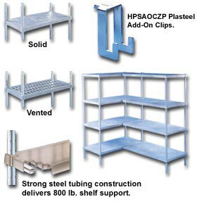 Storage Products Group - (Plas, Extra Posts For Plasteel Shelving, Hp84Gr, Size W X L X H: 84