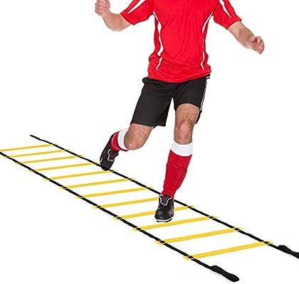 DIAMWAN Escalera de Agilidad Escalera de Agilidad de Velocidad de Carrera 4M-10M 8/12/20 con Bolsa de Transporte para Entrenamiento de fútbol, fútbol-10M: Amazon.es: Deportes y aire libre