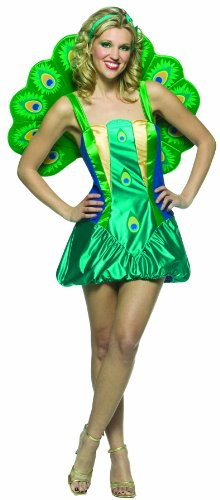 Rasta Imposta Lightweight Peacock, Multi, Adult (Peacock Costumes For Women)